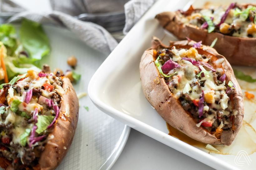 Tip na obed: Batát plnený hovädzím mäsom