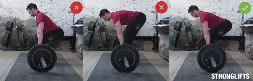Postavení ramen akyčlí přizahájení pohybu
