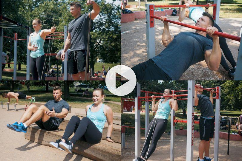 8 cviků, kterými efektivně potrápíte své tělo na workoutovém hřišti