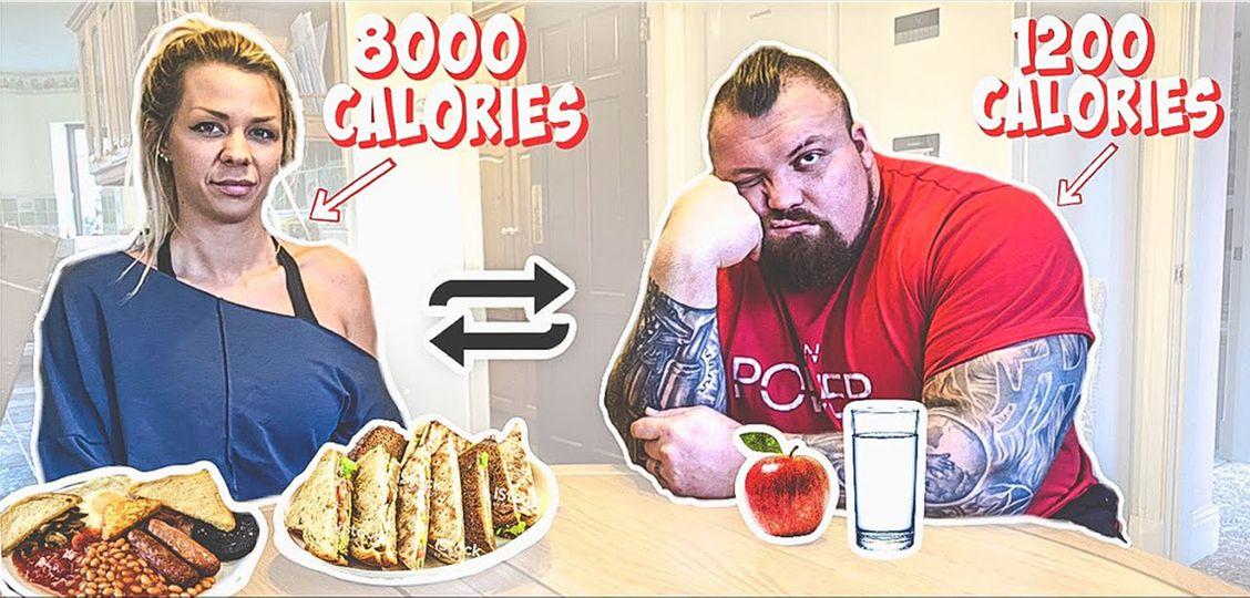Jak to dopadlo, když si strongman Eddie Hall vyměnil na den jídlo se svou ženou?