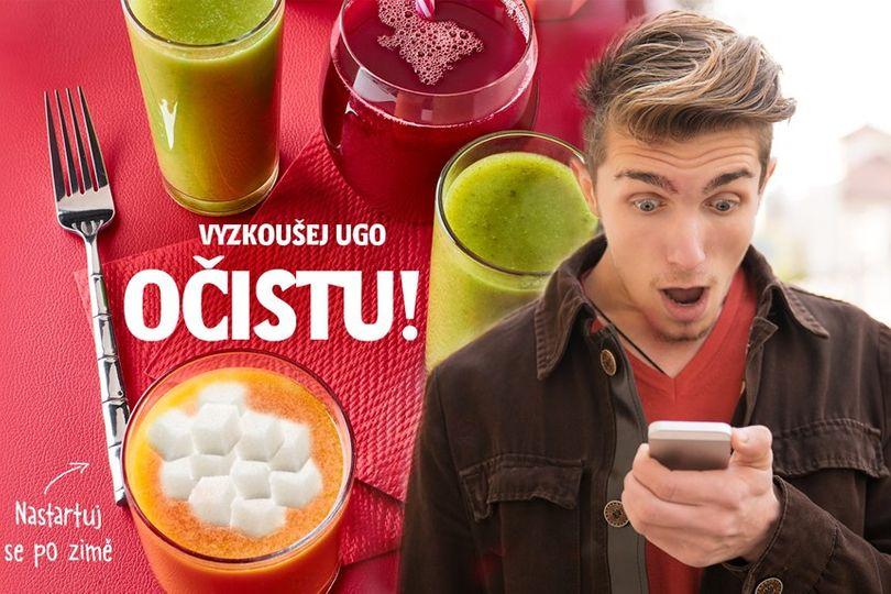 Už i UGO nás chce detoxikovat! Na UGO Očistě za den ale přijmeme kolem 200 gramů cukru...