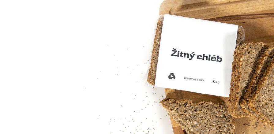 Žitný chléb  s vysokým obsahem  vlákniny a omega-3