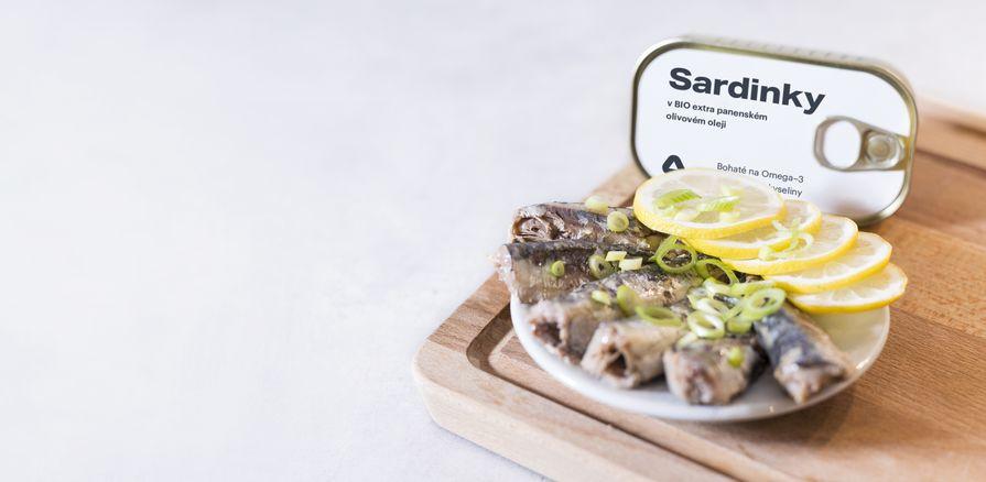 Vychutnej si celé  kousky sardinek  v BIO olivovém oleji