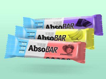 Vegan friendly, bez lepku a bez laktózy, to jsou tyčinky a protein značky Abso.
