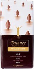 Health Link Balance mléčná čokoláda bez přidaného cukru