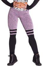 e59afd7ad65 Nebbia dámske legíny Over the knee 286 – fialový melír černé nohavice