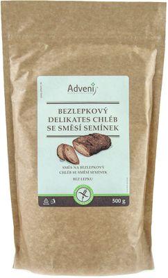 Adveni Bezlepkový chléb Delikates se směsí semínek