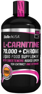 BioTech USA L-Carnitine 70000 + Chrome Liquid