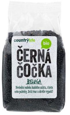 Country Life Čočka černá beluga BIO