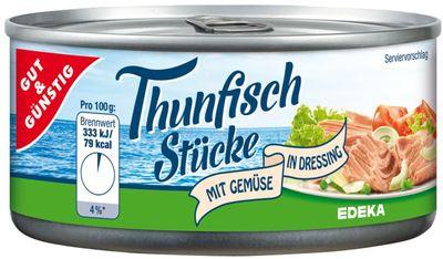 Edeka Kousky tuňáka se zeleninou v dresinku