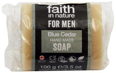 Faith in Nature For Men Tuhé mýdlo modrý cedr