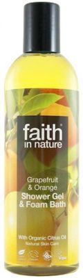 Faith in Nature Sprchový gel a pěna Grapefruit a pomeranč BIO