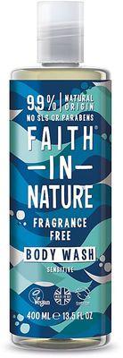 Faith in Nature Sprchový gel a pěna bez parfemace hypoalergenní
