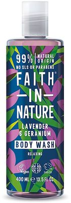 Faith in Nature Sprchový gel a pěna levandule a geranium