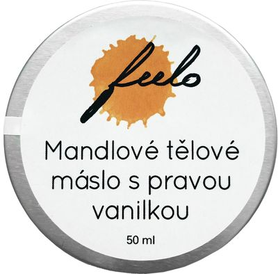 Feelo Mandlové tělové máslo s pravou vanilkou