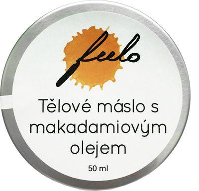 Feelo Tělové máslo s makadamiovým olejem