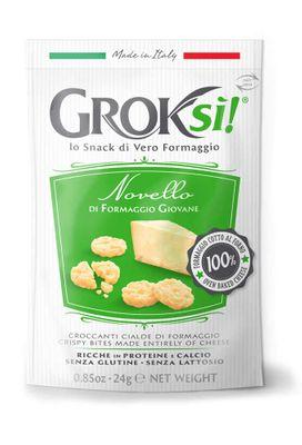 GROKsi! Novello snack z polovyzrálého sýru