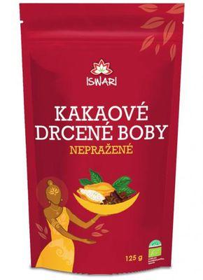 Iswari Nepražené kakaové boby drcené BIO