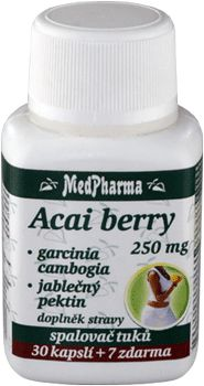 MedPharma Acai Berry 250mg + Garcinia Cambogia + jablečný pektin