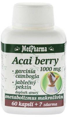 MedPharma Acai berry 1000mg + garcinia cambogia + jablečný pektin
