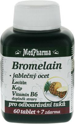 MedPharma Bromelain 300 mg + jabl. ocet + Lecitin + kelp + B6