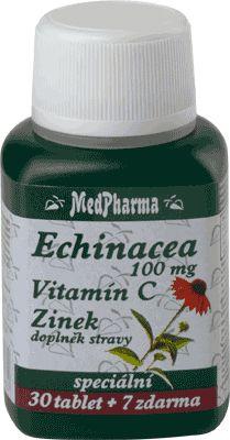 MedPharma Echinacea 100mg + vitamín C + zinek