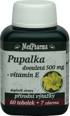 MedPharma Pupalka dvouletá 500mg + vitamín E