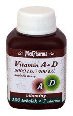 MedPharma Vitamín A+D (5000 I.U.-400 I.U.)