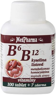 MedPharma Vitamin B6 B12 + kyselina listová