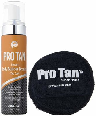 Muscle Up Pro Tan Instant Body Builder Bronze