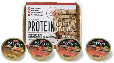 PÂTIFU prémiová tofu paštika 4 x 100 g + HealthyCo Protein Bread 250 g ZDARMA