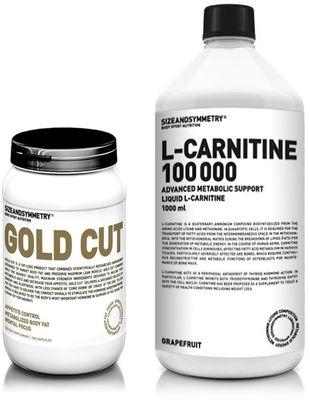 SizeAndSymmetry Gold Cut 100 kapslí + L-carnitine 100000 1000 ml