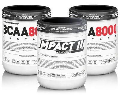 SizeAndSymmetry Nutrition Impact N.O. III + 2x BCAA 8000 Instant powder