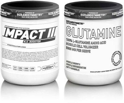 SizeAndSymmetry Nutrition Impact N.O. III 400 g + L-glutamine 300 g