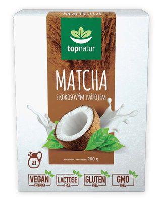 Topnatur Matcha s kokosovým nápojem