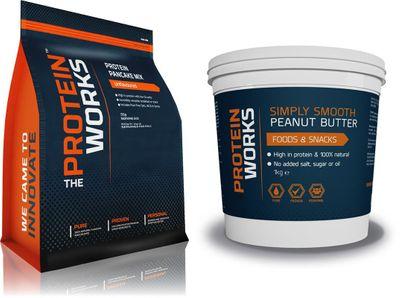 TPW Protein Pancake mix 500g + Peanut butter 1000g