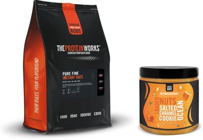 TPW Pure Fine Oats 4000 g + Loaded Nuts Peanut Butter Salted Caramel Cookie Ocean 500 g