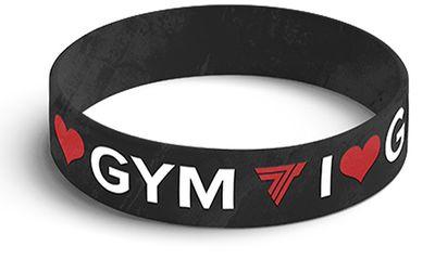 TrecWear Silikinový náramek I love gym 003