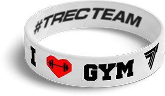 TrecWear Silikonový náramek I Love Gym 081
