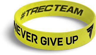 TrecWear Silikonový náramek Never Give Up 074