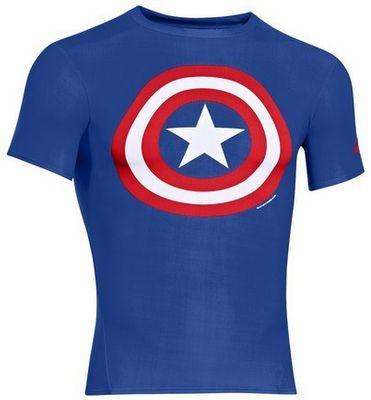 Under Armour Alter ego DC Comics Fitted Captain America