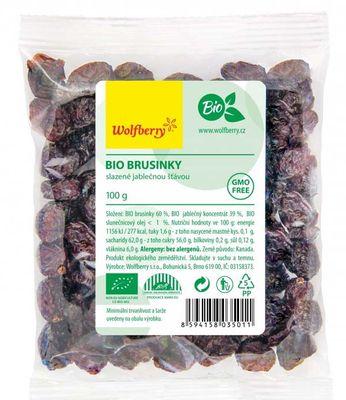 Wolfberry Brusinky slazené jablečnou šťávou BIO