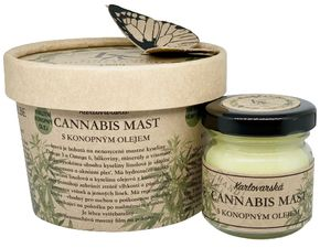 Krušnohorská lázeňská kosmetika Karlovarská Cannabis mast