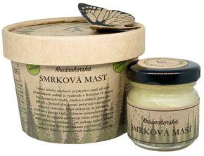 Krušnohorská lázeňská kosmetika Smrková mast se šípkovým extraktem