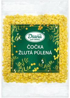 Diana Čočka žlutá půlená