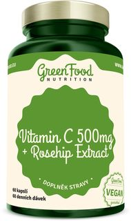 GreenFood Vitamin C 500 + Extrakt ze šípků