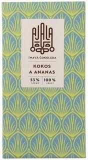 AJALA Tmavá čokoláda kokos/ananas 45 g