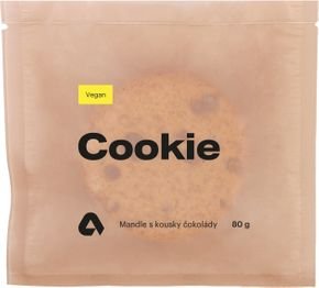 Aktin Vegan Proteinová Cookieska mandle s kousky čokolády 80 g