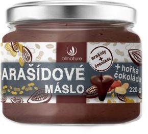 Allnature Arašídové máslo s čokoládou hořká čokoláda 220 g