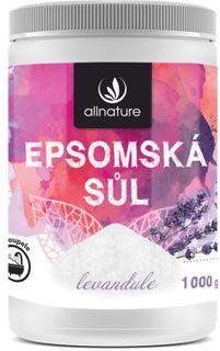 Allnature Epsomská sůl 1000 g levandule